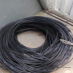 Homem é detido após furtar cabos de fibra óptica