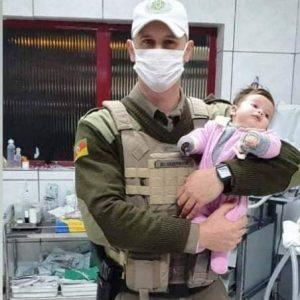 BM de Dom Pedrito realiza salvamento de bebê