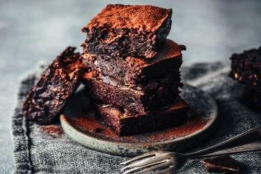 Brownie de batata-doce e chocolate