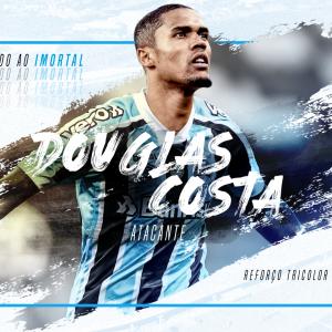 Grêmio anuncia o retorno de Douglas Costa
