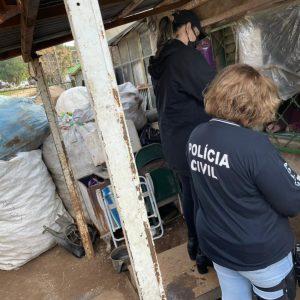 Polícia inspeciona estabelecimentos comerciais de compra e venda de material reciclável