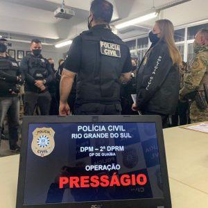 Operação Presságio é desencadeada na região metropolitana e Capital em repressão ao crime de tráfico de drogas