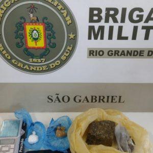 BM de São Gabriel realiza prisão por tráfico de drogas