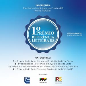 Inscrições para Prêmio Referência Leiteira RS vão até dia 15 de outubro