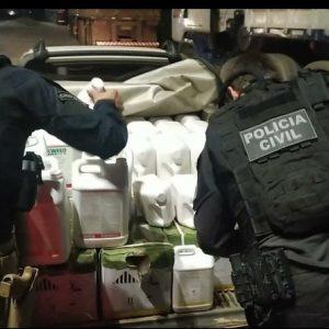 PRF e PC apreendem mais de meia tonelada de agrotóxicos contrabandeados do Uruguai